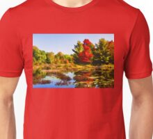 Impressions of Forests - Bright Red Maple, Reflected Unisex T-Shirt