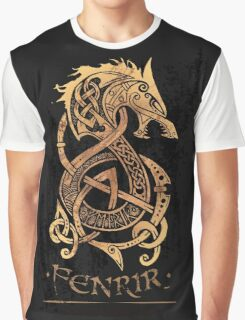 Fenrir: The Nordic Monster Wolf Graphic T-Shirt