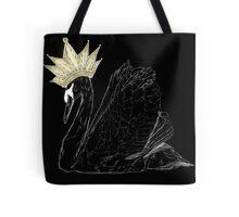 Black Swan Queen - Gold Crown Tote Bag