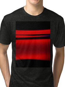 Abstract Red Light Strokes Tri-blend T-Shirt