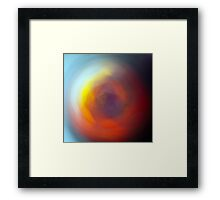 Blue and orange sunrise swirl Framed Print