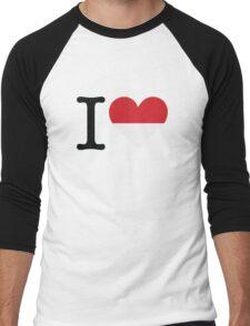 I Love Indonesia Men's Baseball ¾ T-Shirt