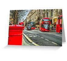 Oxford Street London Greeting Card