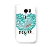 i love ocean (happy whale) Ocean Samsung Galaxy Case/Skin