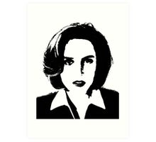 X-Files - Dana Scully Art Print
