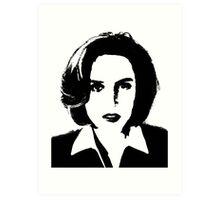 X-Files - Dana Scully Art Print