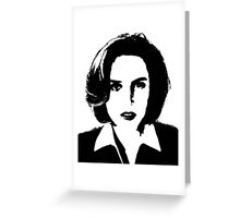 X-Files - Dana Scully Greeting Card