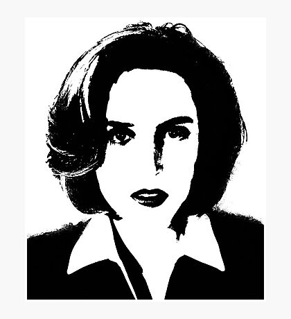 X-Files - Dana Scully Photographic Print