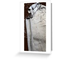 The Cowled Figure In The Dead Of The Night Greeting Card