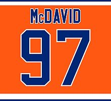 Edmonton Oilers Connor McDavid Alternate Jersey Back Phone Case by Russ Jericho