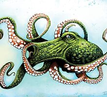 Green Octopus by dsilva