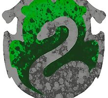Splatter Slytherin Crest Sticker by Sylvanath