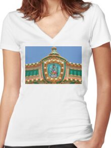 Americana - Amusement decor Women's Fitted V-Neck T-Shirt