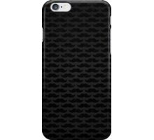 Black and grey moustache pattern iPhone Case/Skin