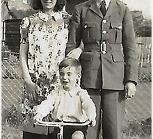 1940 Me, my mum & dad by Woodie
