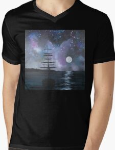 Neverland at Night 2 Mens V-Neck T-Shirt