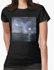 Neverland at Night 2 Womens Fitted T-Shirt