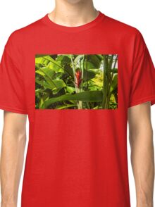 Tropical Impressions - Red Ginger Flower, Framed in Lush Jungle Green Classic T-Shirt