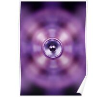 Music speaker on a purple background Poster