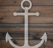 Anchor wood Sticker
