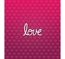 Love Heart Pattern Photographic Print