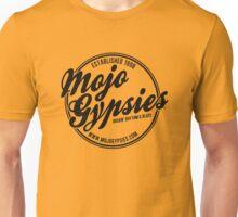 Gold t-shirt with Mojo Gypsies Script Logo Unisex T-Shirt
