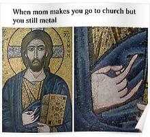 Metal Jesus Poster
