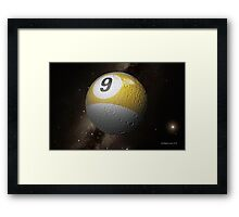 Planet 9 From Outer Space Framed Print
