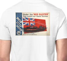 WAR POSTER, Red Duster, Red Ensign, UK, GB, Royal Merchant Navy, WWII, Poster Unisex T-Shirt