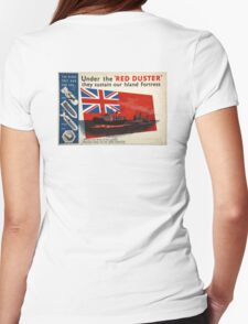 WAR POSTER, Red Duster, Red Ensign, UK, GB, Royal Merchant Navy, WWII, Poster Womens Fitted T-Shirt
