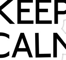 Keep calm it's xmas christmas bauble Sticker