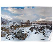 Blackrock Cottage Glencoe Highlands of Scotlands Poster