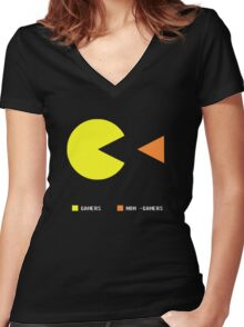 Gamers Women's Fitted V-Neck T-Shirt