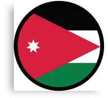 National flag of Jordan Canvas Print