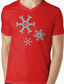 Blue Snowflakes Mens V-Neck T-Shirt