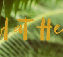 Wild At Heart (Green) Sticker