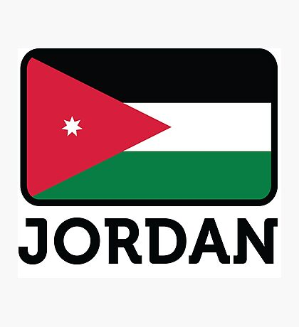 National flag of Jordan Photographic Print