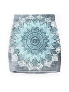 BOHOCHIC MANDALA IN BLUE Mini Skirt