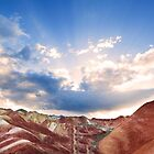 Rainbow Mountains at Sunset by SeeOneSoul