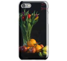 Fruit and Flowers to Wish You Well iPhone Case/Skin