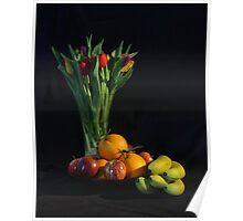 Fruit and Flowers Poster