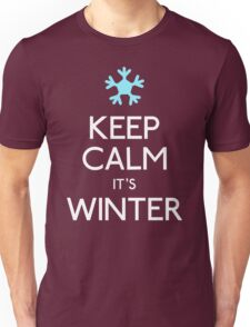 Keep calm it's winter snowflake Unisex T-Shirt