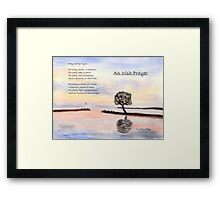 Irish Prayer Framed Print