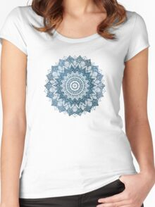 BOHOCHIC MANDALA IN BLUE Women's Fitted Scoop T-Shirt