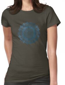 BOHOCHIC MANDALA IN BLUE Womens Fitted T-Shirt