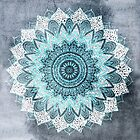 BOHOCHIC MANDALA IN BLUE by nikamartinez