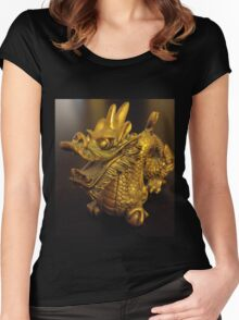 Tiny Feng Shui Dragon Women's Fitted Scoop T-Shirt