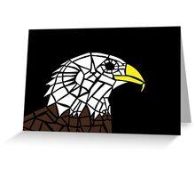Bald Eagle Tile Design Greeting Card
