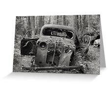 Old Rusty Car #1 Greeting Card