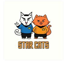 Star Cats Art Print